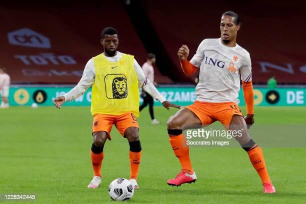 Georginio Wijnaldum of Holland, Virgil van Dijk of Holland during the UEFA Nations league match between Holland v Poland at the Johan Cruijff ArenA...