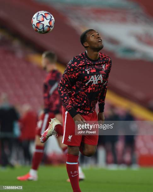 Georginio Wijnaldum of Liverpool before the UEFA Champions League Group D stage match between Liverpool FC and Ajax Amsterdam at Anfield on December...