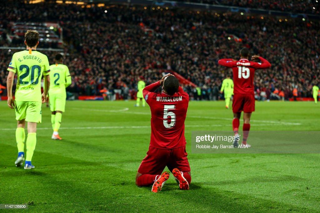 Liverpool v Barcelona - UEFA Champions League Semi Final: Second Leg : Nachrichtenfoto