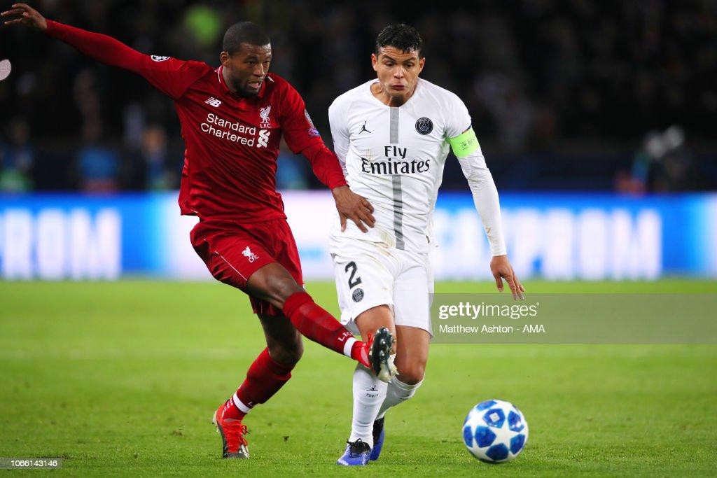 Paris Saint-Germain v Liverpool - UEFA Champions League Group C : Nachrichtenfoto