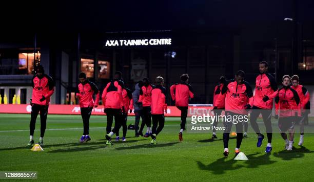 Georginio Wijnaldum of Liverpool during a training session ahead of the UEFA Champions League Group D stage match between Liverpool FC and Ajax...