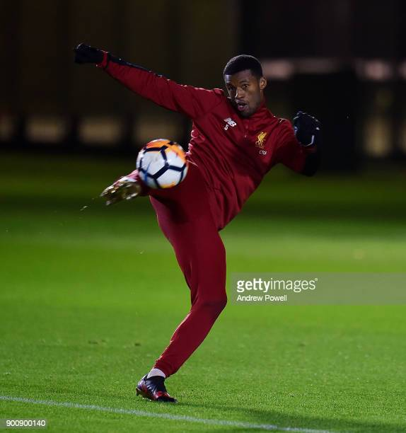 Georginio Wijnaldum of Liverpool during a training session at Melwood Training Ground on January 3 2018 in Liverpool England