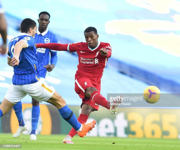 Georginio Wijnaldum of Liverpool during the Premier League match between Brighton & Hove Albion and Liverpool at American Express Community Stadium...