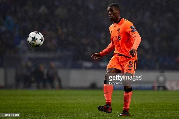 Georginio Wijnaldum of Liverpool FC in action during the UEFA Champions League Round of 16 First Leg match between FC Porto and Liverpool FC at...