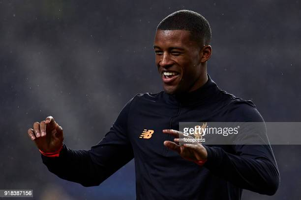 Georginio Wijnaldum of Liverpool FC looks on prior to the UEFA Champions League Round of 16 First Leg match between FC Porto and Liverpool FC at...
