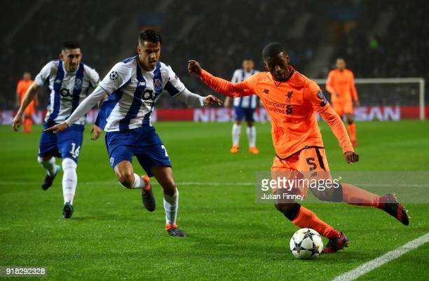 Georginio Wijnaldum of Liverpool in action during the UEFA Champions League Round of 16 First Leg match between FC Porto and Liverpool at Estadio do...