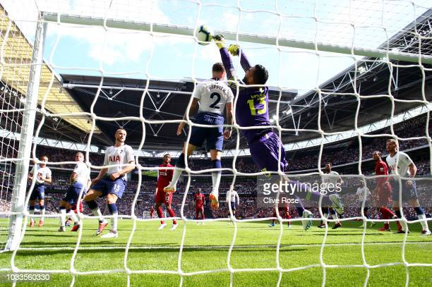 Georginio Wijnaldum of Liverpool scores his team's first goal past Michel Vorm of Tottenham Hotspur during the Premier League match between Tottenham...