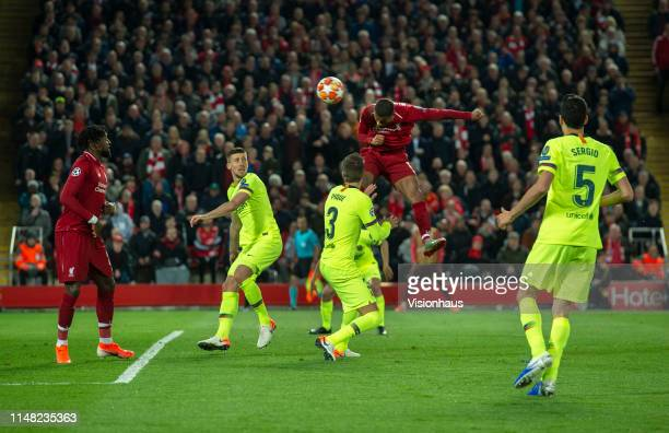 Georginio Wijnaldum of Liverpool scores their third goal during the UEFA Champions League Semi Final second leg match between Liverpool and Barcelona...