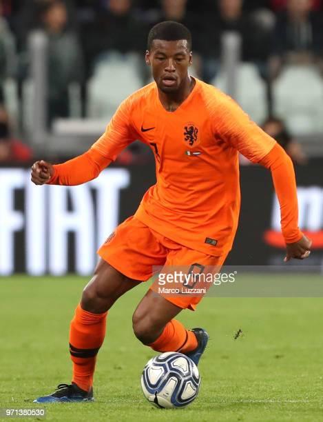 Georginio Wijnaldum of Netherlands in action during the International Friendly match between Italy and Netherlands at Allianz Stadium on June 4 2018...