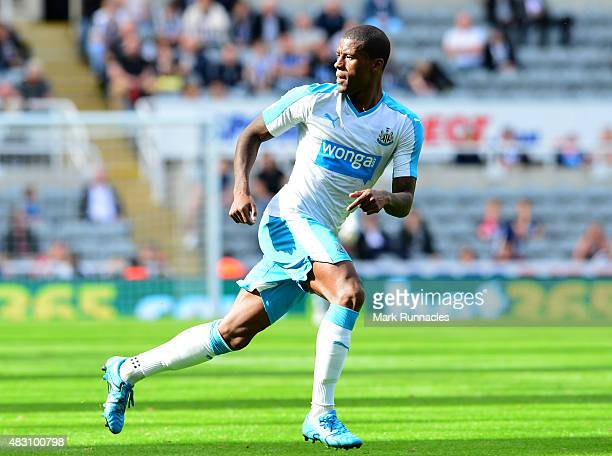 Georginio Wijnaldum of Newcastle in action during the Pre Season Friendly between Newcastle United and Borussia Moenchengladbach at St James' Park on...