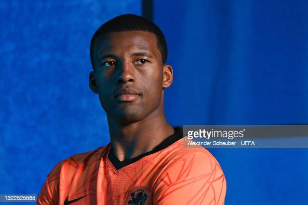 Georginio Wijnaldum of the Netherlands poses during the official UEFA Euro 2020 media access day on June 07, 2021 in Zeist, Netherlands.