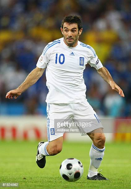 Georgios Karagounis of Greece in action during the UEFA EURO 2008 Group D match between Greece and Sweden at Stadion Wals-Siezenheim on June 10, 2008...
