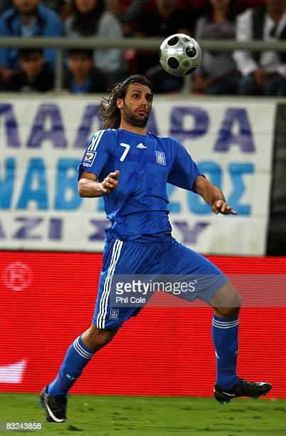 Georgios Samaras of Greece during the Group Two FIFA World Cup 2010 qualifying match between Greece and Moldova held at the Georgios Karaiskakis...