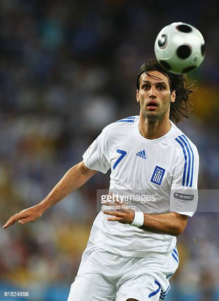 Georgios Samaras of Greece in action during the UEFA EURO 2008 Group D match between Greece and Sweden at Stadion WalsSiezenheim on June 10 2008 in...