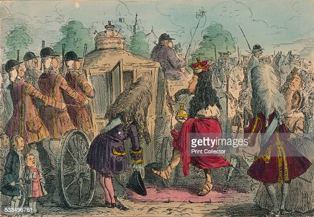 Georgy Porgy the First going out for a ride in his State Coachy Poachy 1850 A satirical illustration of George IV George VI was unpopular with his...