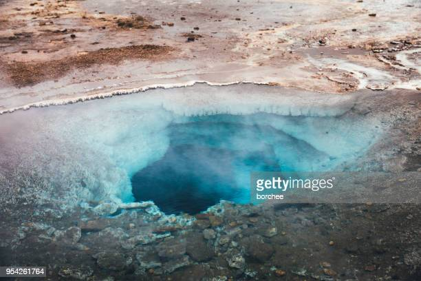 geothermal area in iceland - hot spring stock pictures, royalty-free photos & images