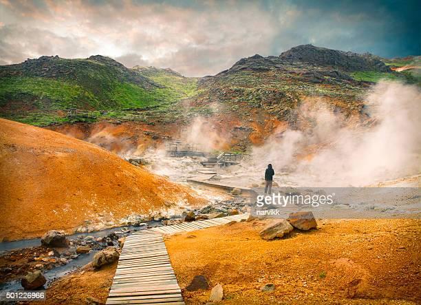 Geothermal area Krysuvik Seltun in Iceland