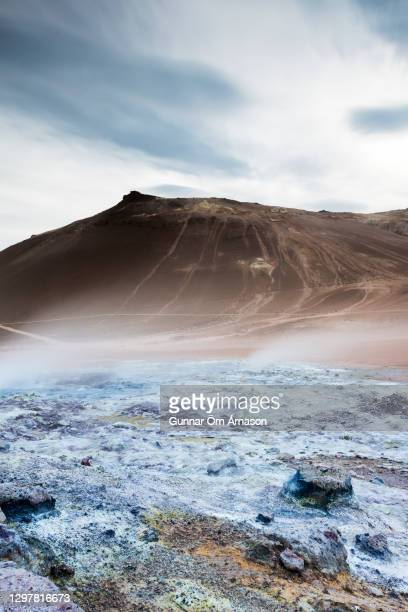 geothermal area - gunnar örn árnason stock pictures, royalty-free photos & images