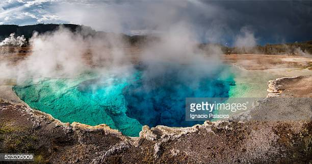 Geothermal basin Old Faithful area, Yellowstone