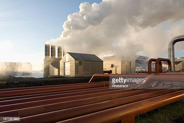地熱エネルギー - 火力発電所 ストックフォトと画像