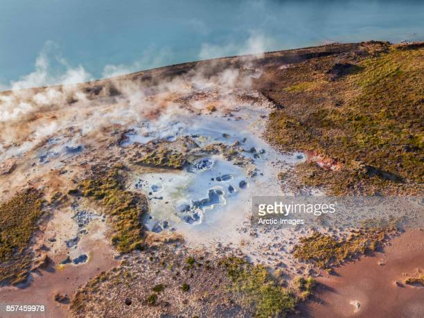Geothermal Mud Pots, Steam and Landscape