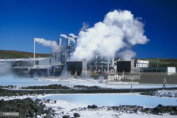 Geothermal Plant and Blue Lagoon leisure park Iceland