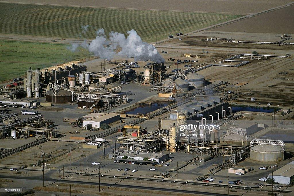 Geothermal power plant, Calipatria, California  : Foto de stock