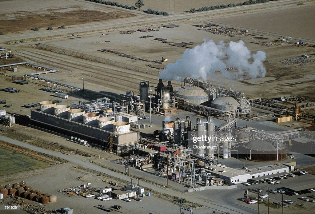 Geothermal power plant, Calipatria, California  : Stock Photo