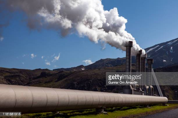 geothermal power plant, iceland - hot spring stock pictures, royalty-free photos & images