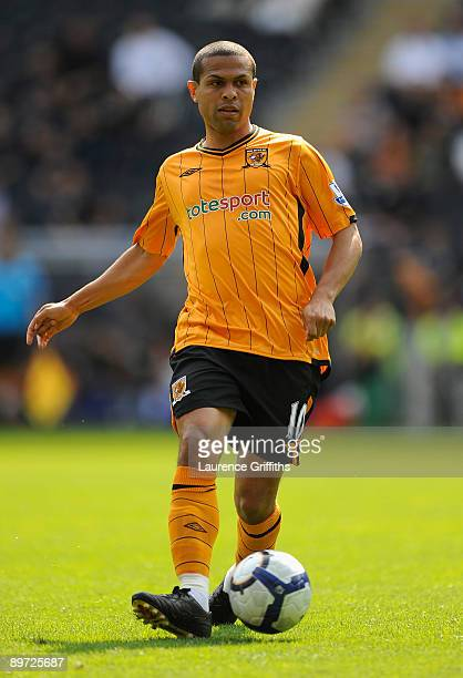 Geovanni of Hull City in action during the Pre Season Friendly between Hull City and Aberdeen at the KC Stadium on August 9 2009 in Hull England
