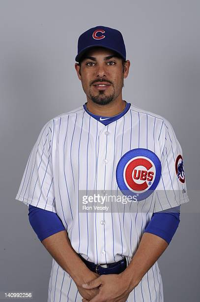 Geovany Soto of the Chicago Cubs poses during Photo Day on Monday February 27 2012 at Hohokam Stadium in Mesa Arizona