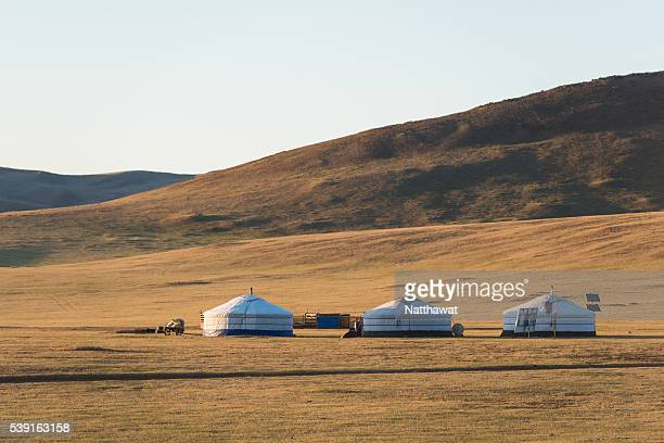 Ger camp in Gobi Desert, Mongolia