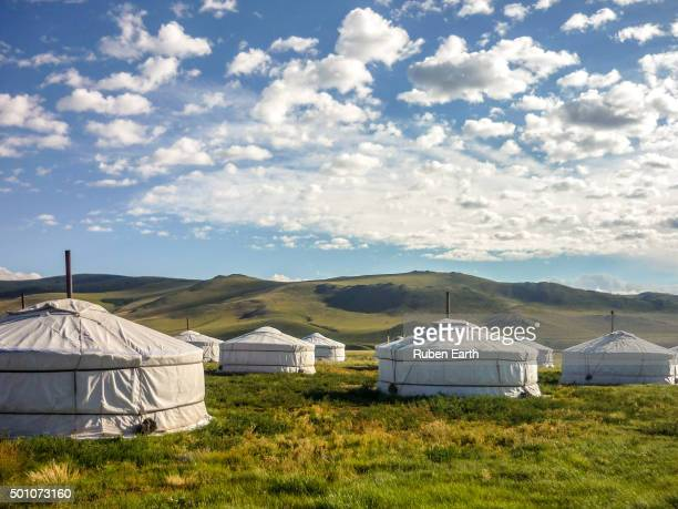 Ger camp resort in Mongolia