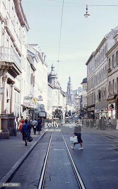 Ger, Heidelberg Einkaufsstrasse Hauptstrasse