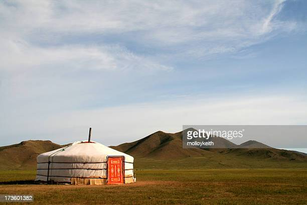 ger tent in mongolia - independent mongolia stock pictures, royalty-free photos & images