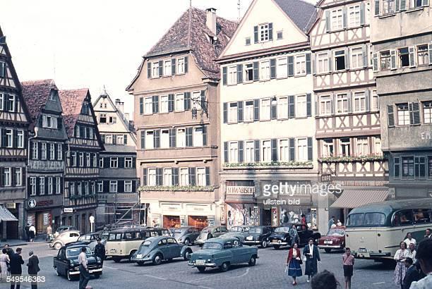 Ger Tuebingen ca 1958 innenstadt
