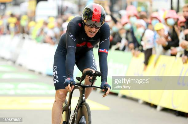 Geraint Thomas of Great Britain and INEOS Grenadiers during stage 5 of the 108th Tour de France 2021, an Individual Time Trial of 27,2km / @LeTour /...
