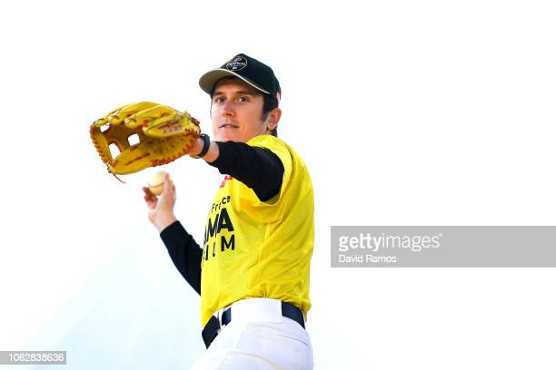Geraint Thomas of Great Britain and Team Sky pratices baseball during the 6th Tour de France Saitama Criterium 2018 Media day on November 03 2018 in...