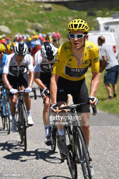 Geraint Thomas of Great Britain and Team Sky Yellow Leader Jersey / during the 105th Tour de France 2018 Stage 12 a 1755km stage from...