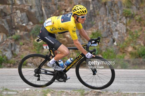 Geraint Thomas of Great Britain and Team Sky Yellow Leader Jersey / during the 105th Tour de France 2018, Stage 12 a 175,5km stage from...