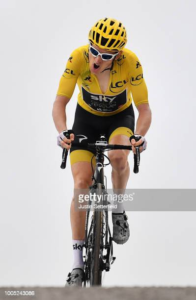 Geraint Thomas of Great Britain and Team Sky Yellow Leader Jersey / during the 105th Tour de France 2018, Stage 17, a 67km stage from...