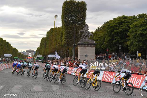 Geraint Thomas of Great Britain and Team Sky Yellow Leader Jersey / Paris City / Peloton / Landscape / during the 105th Tour de France 2018, Stage 21...