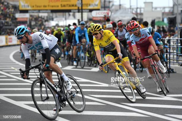 Geraint Thomas of Great Britain and Team Sky Yellow Leader Jersey / Rick Zabel of Germany and Team Katusha Alpecin / during the 6th Tour de France...