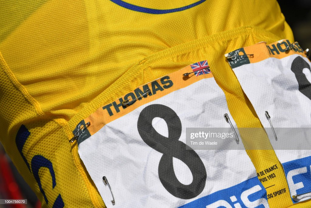 Geraint Thomas of Great Britain and Team Sky Yellow Leaders Jersey / during the 105th Tour de France 2018, Stage 16 a 218km stage from Carcassonne to Bagneres-de-Luchon on July 24, 2018 in Bagneres-de-Luchon, France.