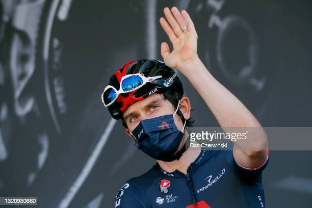 Geraint Thomas of The United Kingdom and Team INEOS Grenadiers at start in Brioude City during the 73rd Critérium du Dauphiné 2021, Stage 2 a 172,8km...