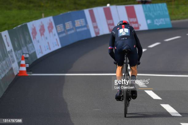 Geraint Thomas of The United Kingdom and Team INEOS Grenadiers at arrival during the 74th Tour De Romandie 2021, Prologue a 4,05km Individual Time...