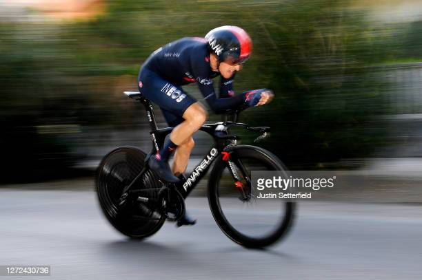 Geraint Thomas of The United Kingdom and Team INEOS Grenadiers / during the 55th Tirreno-Adriatico 2020 - Stage 8 a 10,1km Individual Time Trial in...