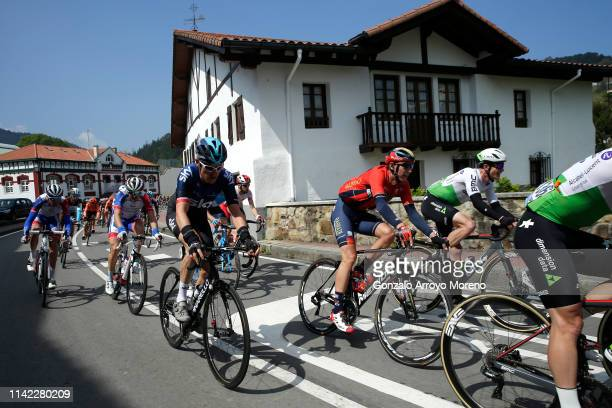 Geraint Thomas of the United Kingdom and Team Sky / Dylan Teuns of Belgium and Team Bahrain Merida / Benjamin King of The United States and Team...