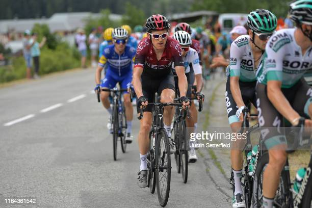 Geraint Thomas of United Kingdom and Team INEOS / Egan Bernal of Colombia and Team INEOS White Best Young Rider Jersey / during the 106th Tour de...