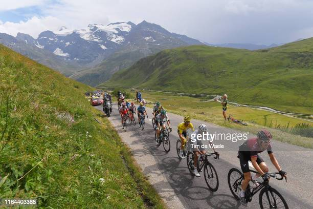Geraint Thomas of United Kingdom and Team INEOS / Egan Bernal of Colombia and Team INEOS White Best Young Rider Jersey / Julian Alaphilippe of France...